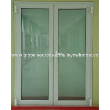 China Thermal Insulation Pvc Plastic French Casement Glass Door On