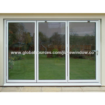 China Strong Aluminum Bi Folding Door with Double Glazing on Global ...
