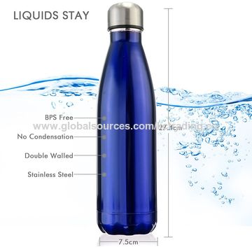 Insulated Double Wall Vacuum Stainless Steel Water Bottle, 500, 750, 1000mL/OEM Welcome