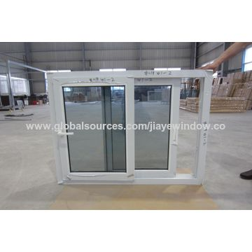 office sliding window. China PVC Sliding Window For Steel Structure Office House