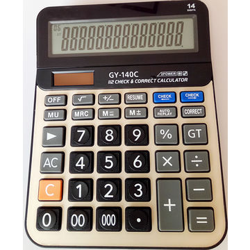 14-digit desktop calculators with two-way power