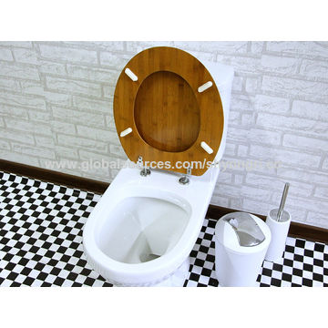 ... China Eco Friendly And Comfortable Bamboo Wood Toilet Seat Cover Set ...