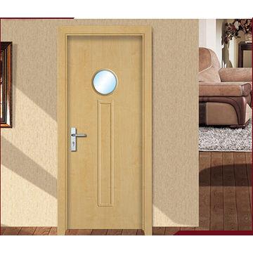 China puerta de madera interior econ mica del pvc del mdf - Puertas de madera economicas ...
