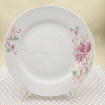 China Wholesale new bone white porcelain flat cheap ceramic plate ...