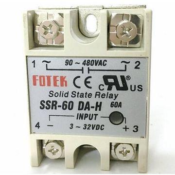 China SSR60DAH 60A Solid State Relay Fotek Single Phase 90