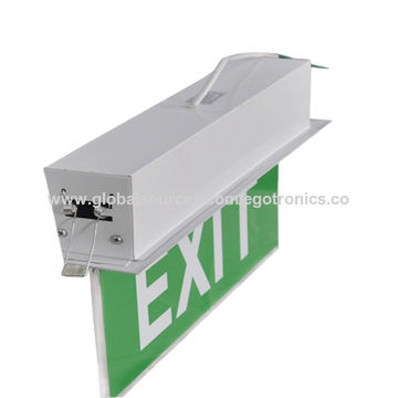 china led exit signs 3year warranty 3hour emergency time
