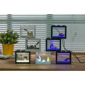 china hot sale aquarium fish tank for betta fish with usb led lighting for christmas