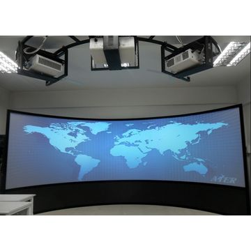 china large curved projection screen for flight simulator system
