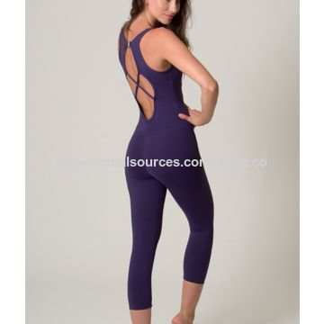 China Womens One Piece Ladies Sports Jumpsuit Yoga Wear On Global