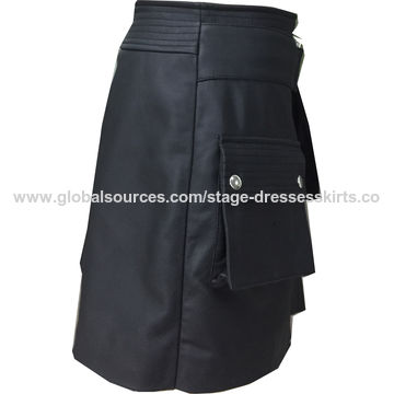 Women's genuine leather skirt