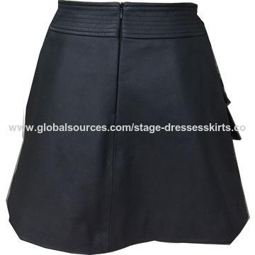 Women's genuine leather skirt