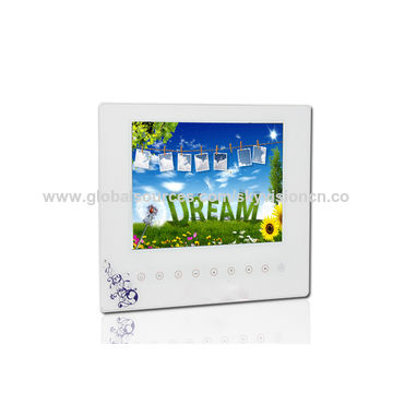 China 8-inch supper thin digital photo frame with touch button, auto ...