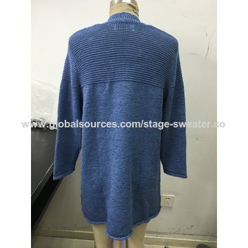Women's sweater, spring and autumn style,good elasticity, mid-length,tape yarn, good elasticity
