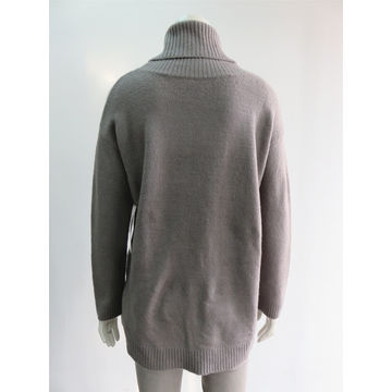 Women's turtleneck knitted pullovers