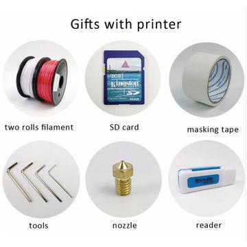 2016 New Aluminium Structure flsun3d 3D Printer DIY Prusa i3 3d Printer Kit Heated Bed Two Rolls Fil