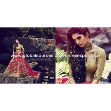 Submissive Magenta Bhagalpuri Silk Lehenga Choli