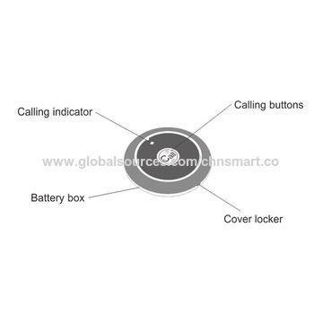 1-button ultra-thin waterproof wireless call button