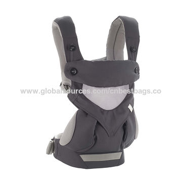 China Four Position 360 Cool Air Mesh Baby Carrier Carbon Grey,Cooler for Baby with Breathable 3D Air Mesh