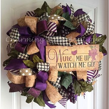 Christmas Wired Cork Ribbon