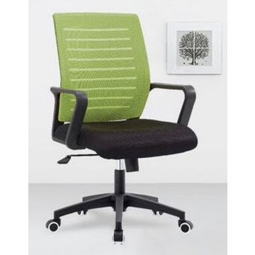 Nylon China Black Swivel Office Chair Mesh Back Fabric Seat Locking Casters