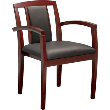 ... China Low Price Black Comfortable Solid Wooden Chair, PU Leather Seat  Without Armrest Use In ...