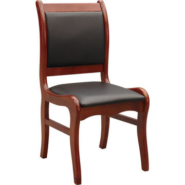 ... China Low price black comfortable solid wooden chair PU leather seat without armrest use in ...  sc 1 st  Global Sources & China Low price black comfortable solid wooden chair PU leather ...