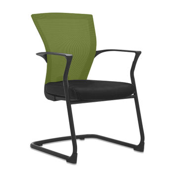 China Hot S Low Price Fabric Seat Mesh Iron Frame Office Chairs No Wheels With