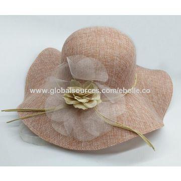 ... China Elegant Wide Brim Sinamay Hats for Summer c2a96ed079f6