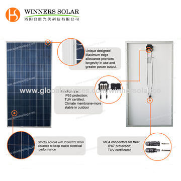 265W Poly Solar Panels, Outdoor Used, with High Output Power