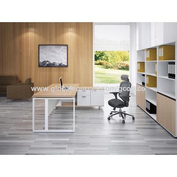 China Steel legs office desk/office furniture manufacturer