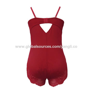 Women's one piece corset with bra