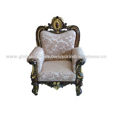 ... India Hand Carved Teak Wooden Sofa Set ...