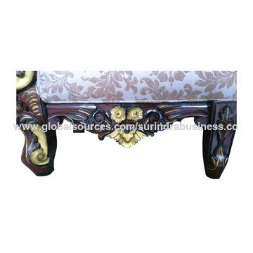 ... India Hand Carved Teak Wooden Sofa Set