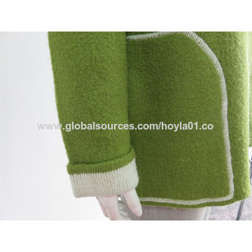 Women's hooded cardigan for wool