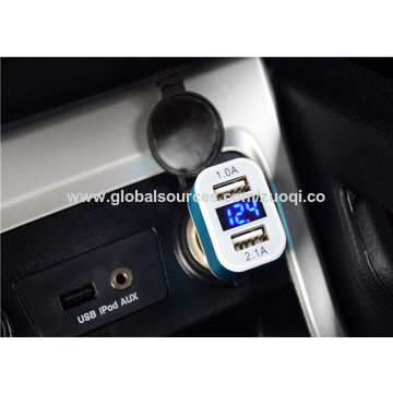 ABS Car Charger, 5V 2.1A Dual, USB Ports