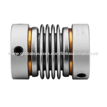 General motor bellows flexible drive shaft coupling
