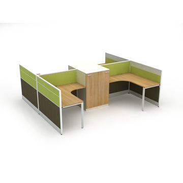 Merveilleux ... Chest China 4 Persons Modular Office Workstations With Cabinets, ...