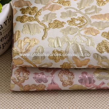 2017 popular metallic floral jacquard fabric
