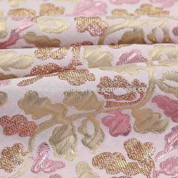 China 2017 popular metallic floral jacquard fabric