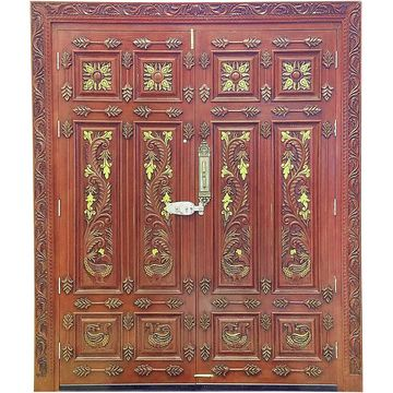 India Puerta Tallada Mano De Madera Solida De La Entrada Principal - Puertas-entrada-principal