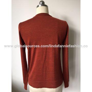 Women's 100% merino wool knitted winter sweater