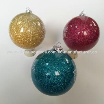 Christmas glitter crystal ball, Christmas hanging ball