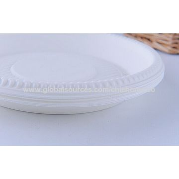 ... China Biodegradable tableware 7 inch round plate Made of corn starch eco- ...  sc 1 st  Global Sources & China Biodegradable tableware 7 inch round plate Made of corn ...