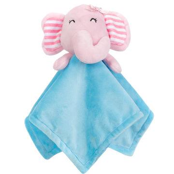 China Super Soft Babies Comforter Blanket Animal Head Plush Baby