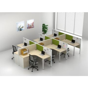 China Por Modular Office Workstation Parions With Steel File Cabinets