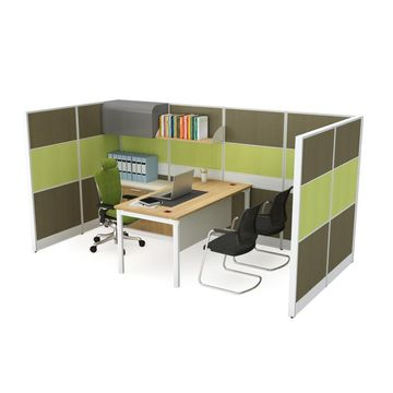 ... China Popular Modular Office Workstation Partitions With Steel File  Cabinets ...