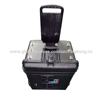 Portable VIP Jammer for US with Pelican Case 2G 3G 4G 2.4Ghz High Power 500W Jammer up to 350m