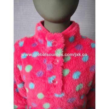 Girls' plush fleece top