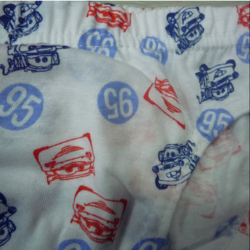 100% Organic Cotton Boys' Briefs with Cute Prints, Customized Design Accepted