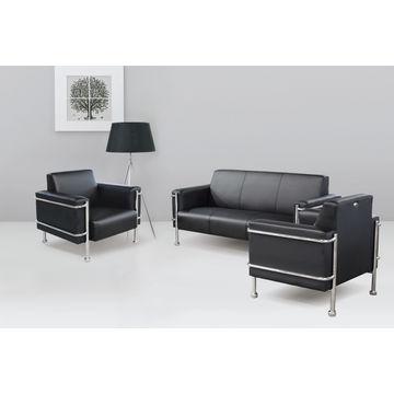 China Hot Public Office Furniture Leather Sofa Set